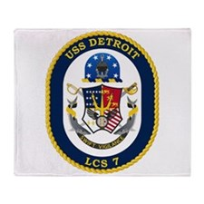 USS Detroit LCS-7 Throw Blanket