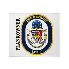 USS Detroit Plankowner Throw Blanket