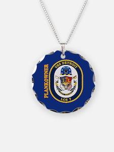 USS Detroit Plankowner Necklace