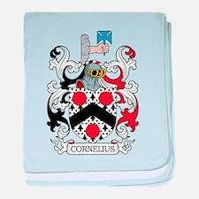 Cornelius Family Crest baby blanket