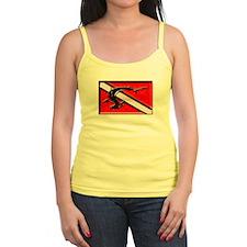 Shark Dive Flag Ladies Top