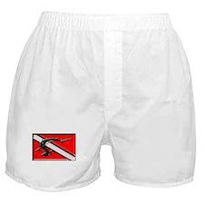 Shark Dive Flag Boxer Shorts