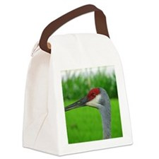 Sand Hill Crane Portrait Canvas Lunch Bag