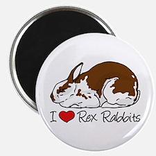 I Heart Rex Rabbits Magnets
