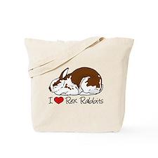 I Heart Rex Rabbits Tote Bag