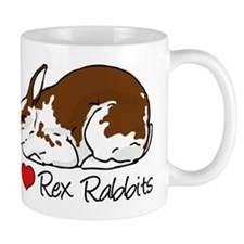 I Heart Rex Rabbits Mugs