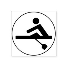 Rower Circle Sticker