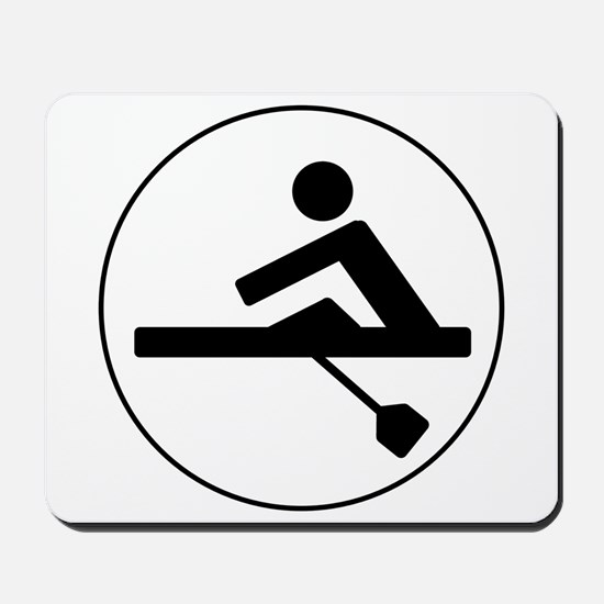 Rower Circle Mousepad