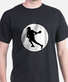Lacrosse Player Circle T-Shirt