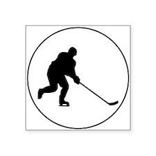 Hockey Player Circle Sticker