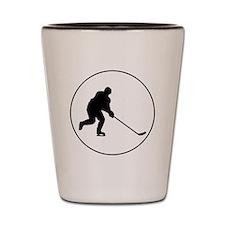 Hockey Player Circle Shot Glass