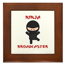 Ninja Broadcaster Framed Tile