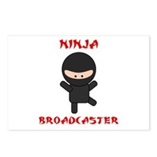 Ninja Broadcaster Postcards (Package of 8)