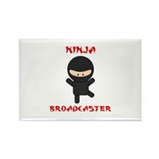Ninja Broadcaster Rectangle Magnet