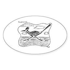 Roadrunner Illustration Oval Decal