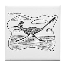 Roadrunner Illustration Tile Coaster
