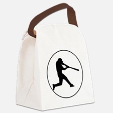 Baseball Batter Circle Canvas Lunch Bag
