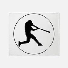 Baseball Batter Circle Throw Blanket