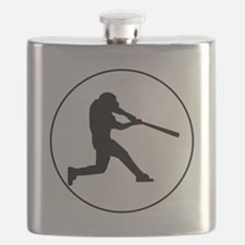 Baseball Batter Circle Flask