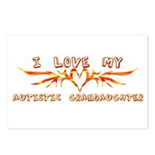 I Love My Autistic Grandaught Postcards (Package o