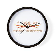 I Love My Autistic Grandaught Wall Clock