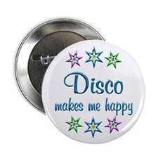 """Disco Happy 2.25"""" Button (10 pack)"""