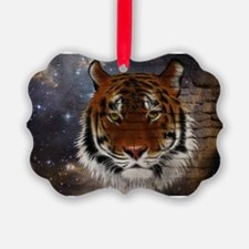 Abstract Tiger Ornament