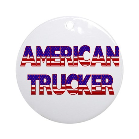 American Trucker Ornament (Round)