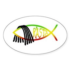 Rasta Fish Oval Decal