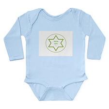 Ahavah-Green Long Sleeve Infant Bodysuit