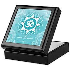 Om Shanti Peace - Ocean Keepsake Box