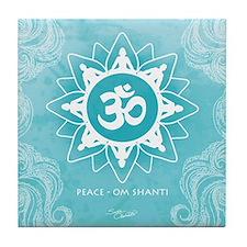 Om Shanti Peace - Ocean Tile Coaster