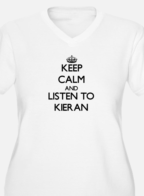 Keep Calm and Listen to Kieran Plus Size T-Shirt
