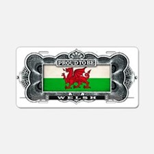 Proud To Be Welsh Aluminum License Plate