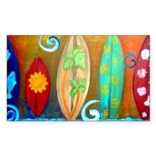 Surfboard art Decal