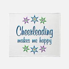 Cheerleading Happy Throw Blanket