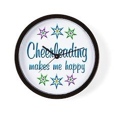 Cheerleading Happy Wall Clock