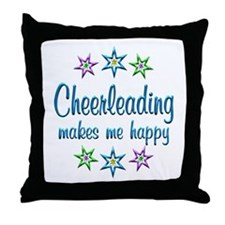 Cheerleading Happy Throw Pillow
