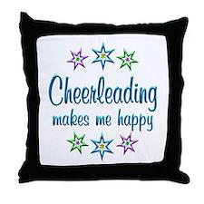 Cheerleading Happy Throw Pillow