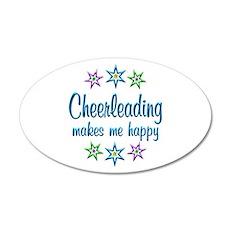 Cheerleading Happy Wall Decal