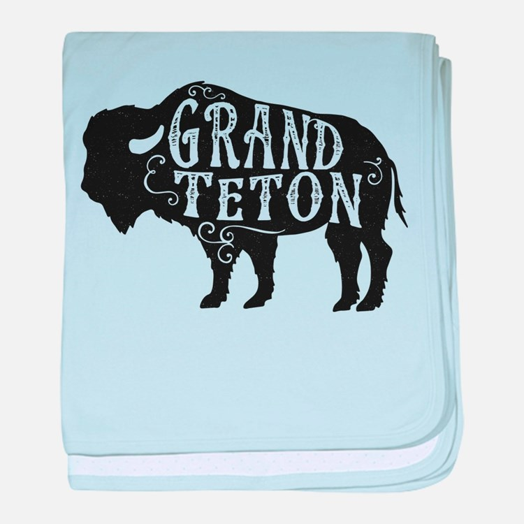 Grand Teton Buffalo baby blanket