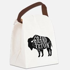 Grand Teton Buffalo Canvas Lunch Bag