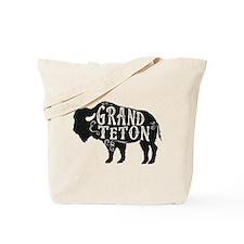 Grand Teton Buffalo Tote Bag