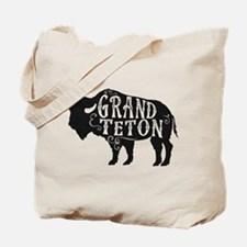 Grand Teton Buffalo Tote Bag