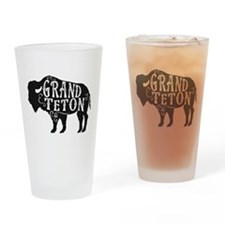 Grand Teton Buffalo Drinking Glass