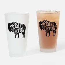 Grand Teton Buffalo Drinking Glass
