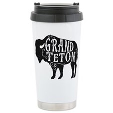 Grand Teton Buffalo Travel Mug