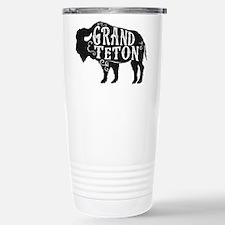 Grand Teton Buffalo Travel Mug