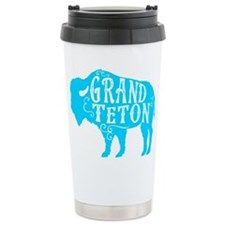 Grand Teton Buffalo Travel Coffee Mug