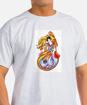 Geisha and Dragon T-Shirt
